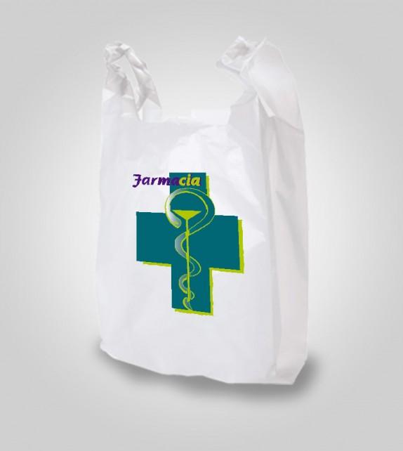 Saco Bolsas de Camiseta Polietileno